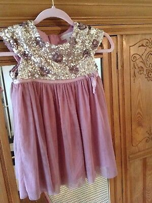 Mini Boden Girls Party / Bridesmaid Dress, Age 4-5.