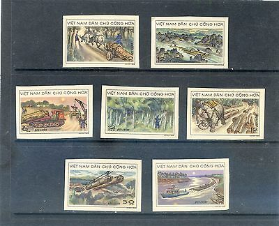 VIET NAM  - imperf stamps 1969 -Timber Industry - Set of 7 - MNH