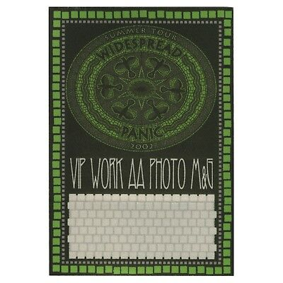 Widespread Panic authentic 2002 Summer tour satin Backstage Pass All Access