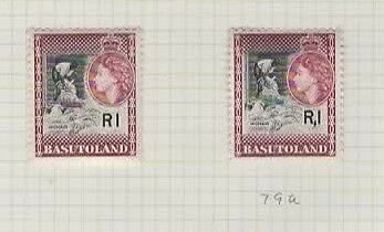 1961 BASUTOLAND 1r (both shades) SG 79 & 79a - CV £145. Lovely LHM.