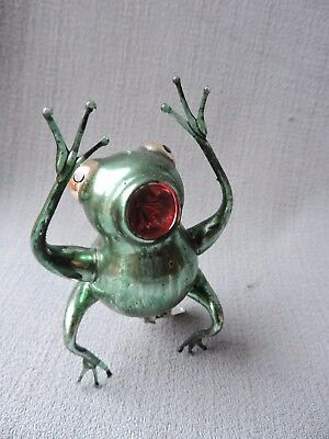Antique German Glass Christmas Ornament AMAZING BULLFROG 1940's