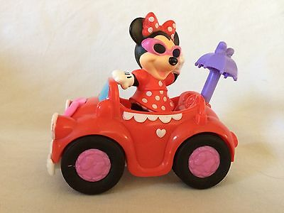 Fisher Price Little People Disney bouncing Minnie Mouse car