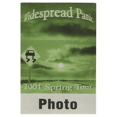 Widespread Panic authentic 2001 Spring tour satin Backstage Pass photo green