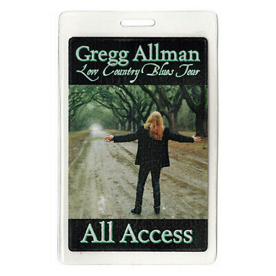 Gregg Allman Band authentic 2011 Laminated Backstage Pass Low Country Blues Tour