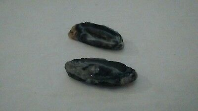 2 Gorgeous Druzy Crystal Slices....With Holes.