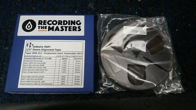 "New 1/4"" Master Alignment Calibration Tape Mono, 1/2 & 1/4 Track 7.5 & 15ips"