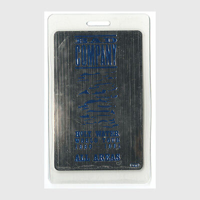 Bad Company authentic 1990 concert Laminated Backstage Pass Holy Water Tour AA