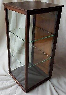 Good Size Victorian Mahogany Shop Display Cabinet for Collectors or Display