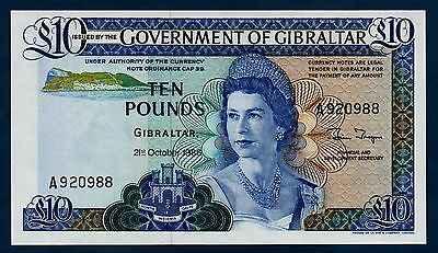 Gibraltar Banknote 10 Pounds 1986 UNC