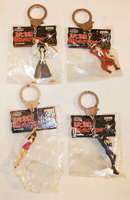 LUPIN THE THIRD 3RD FIGURAL CHARACTER KEYCHAIN SET OF 4 by BANPRESTO UNUSED MIP