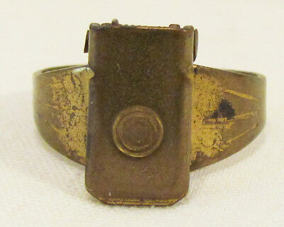 Secret Spy Cap-Fire Ring 1953 Post Cereal Premium Mail Away Metal Ring Prize