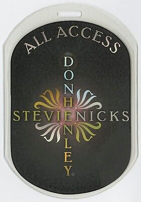 Stevie Nicks authentic 2005 Laminated Backstage Pass Two Voices Tour Don Henley