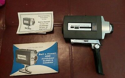 BELL & HOWELL Vintage AUTOLOAD Super 8 Movie CAMERA w/ Case + Manuals