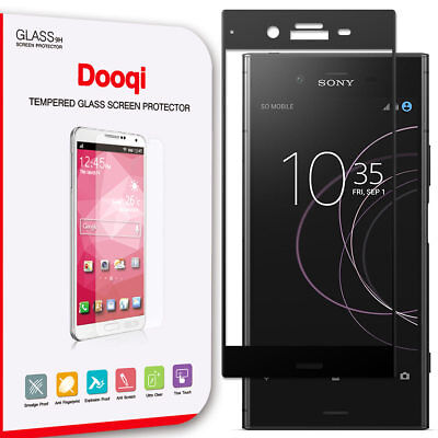 Dooqi Premium Full Cover Tempered Glass Screen Protector for Sony Xperia XZ1