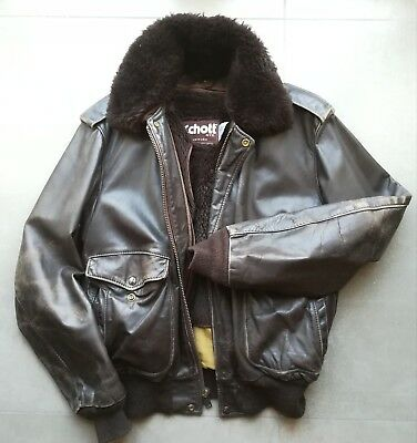 Vintage SCHOTT Usa man leather jacket size 46  top quality