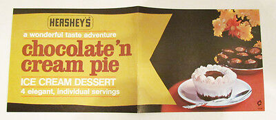 Hershey's Ice Cream Vintage Advertising Store Poster Chocolate 'n Cream Pie