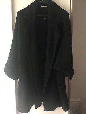 Women's Black Thick Knit Cardigan Coat Size XL 20 22