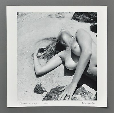 Fritz Henle Ltd. Ed. Photo Kunstdruck Art Print 31x31cm Beach Nude 1973 B&W Art