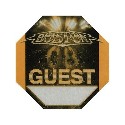 Boston authentic Guest 2008 tour Backstage Pass