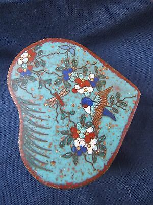 Meiji cloisonne heart-shaped box