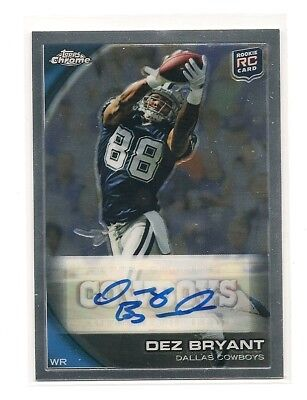 Dez Bryant 2010 Topps Chrome Auto Rookie Card