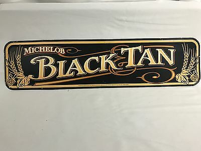 1999 Michelob Black & Tan Metal Beer Sign Man Cave Bar