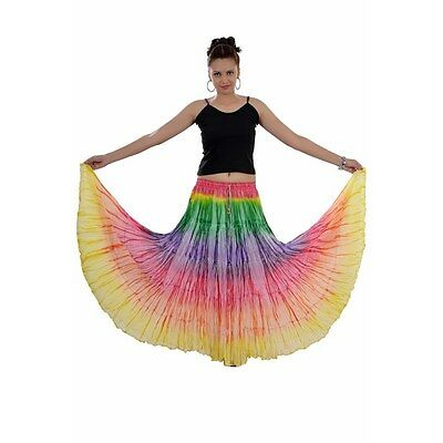 Tie n Dye Ruffle Long Skirt