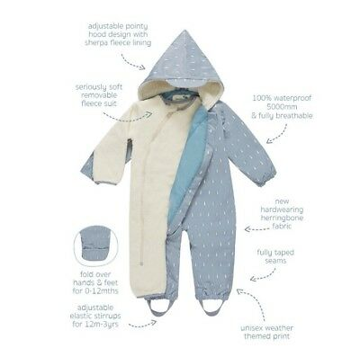 Muddy Puddles 3 In 1 Raindrop Scamp Suit 18-24 Months - Unisex