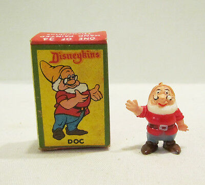 MARX 1960's WALT DISNEY DISNEYKINS DOC DWARF FIGURE W/ BOX SNOW WHITE DISNEYKIN