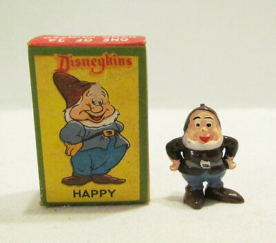 MARX 1960's WALT DISNEY DISNEYKINS HAPPY DWARF DISNEYKIN FIGURE & BOX SNOW WHITE