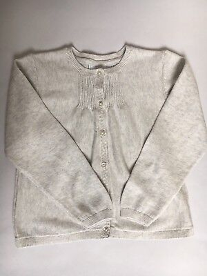 The Little White Company Girls Knitted Grey Cardigan 18-24 Months