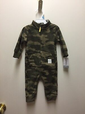 Carter's 6-month Boy's NEW Camouflage Fleece Romper Pajamas One-piece Outfit