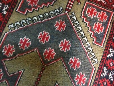 "C 1930 Baluch Antique Persian Exquisite Hand Made Rug 2' 1"" x 3' 4"""