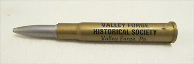 VALLEY FORGE HISTORICAL SOCIETY VINTAGE SOUVENIR BULLET SHELL PEN c. 1960's PA