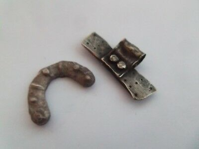 2 Nice Very Old Silver Metal Detecting Finds, Viking / Saxon, Interesting Items