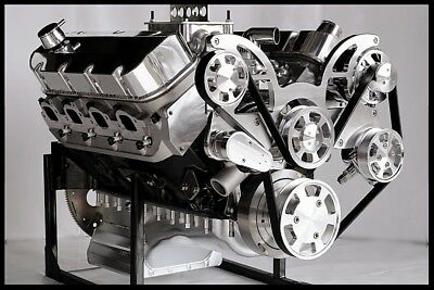 BBC CHEVY 572 TURN KEY ENGINE, MERLIN IV BLOCK 740 hp-SERPENTINE