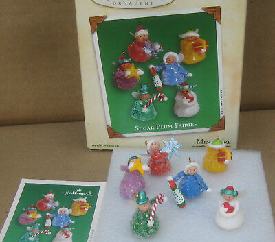 Hallmark Keepsake Set of 6 Miniature Christmas Ornaments Sugar Plum Fairies 2002