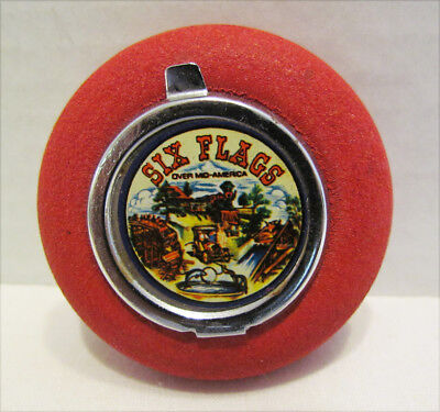 SIX FLAGS OVER MID-AMERICA SOUVENIR PORTABLE POCKET ASHTRAY 1970's VINTAGE