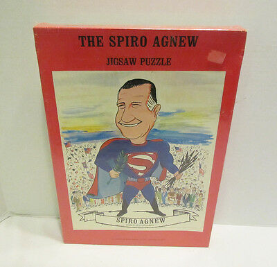 Spiro Agnew As Superman 1970 Jigsaw Puzzle Factory Sealed Gameophiles Unlimited