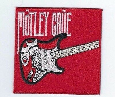 Motley Crue Guitar Theatre Of Pain Embroidered Patch !