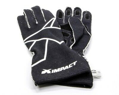 IMPACT RACING X-Large Black/White Double Layer Axis Driving Gloves P/N 35500610