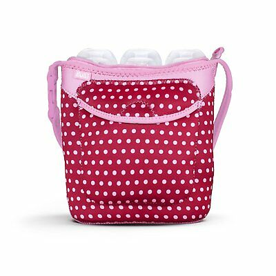 Built NY Three Bottle Tote Baby Pink Mini Dots