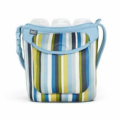 Built NY Three Bottle Tote Baby Blue Stripe