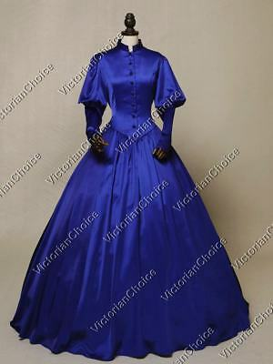 Gothic Victorian Edwardian Frock Steampunk Dress Period Theater Clothing N 006