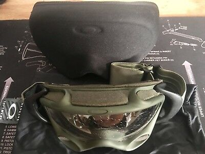 Military Special Forces OD Green & Black OAKLEY Wrap Around ANTI FOG FAN GOGGLES