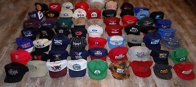 C Vintage Lot of 62 Baseball Snapback Hat Cap Farm Ag Farming John Deere