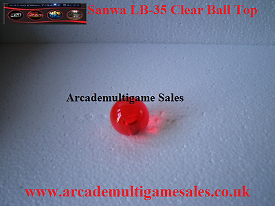 Sanwa LB-35 Clear Ball Tops - Red