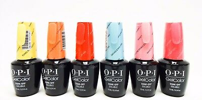 OPI Nail GelColor Retro Summer Gel Color Collection Variations R67-R72 .5oz/15mL