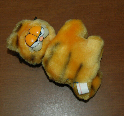 VINTAGE 1970-80s Garfield The Cat Clip-On Plush hugger Toy stuffed animal