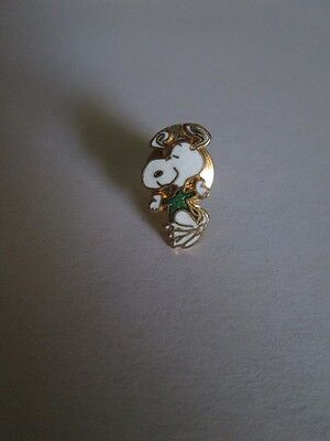 Aviva Cloisonne Snoopy Dancing In Green Shirt Tac Pin New, Mint!